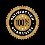 100% satisfaction badge