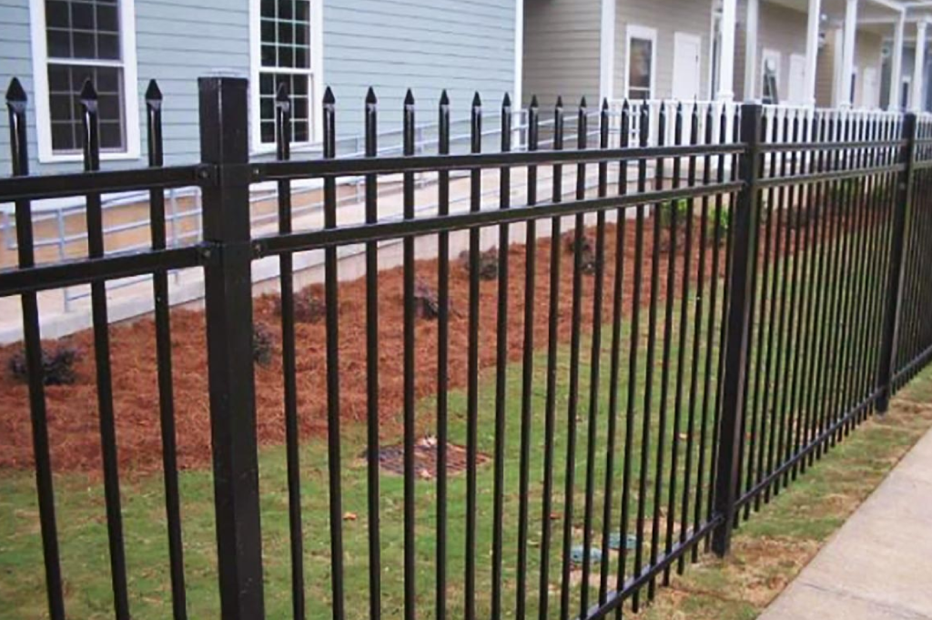 black-aluminum-fencing-around-property-providing-security-and-beauty